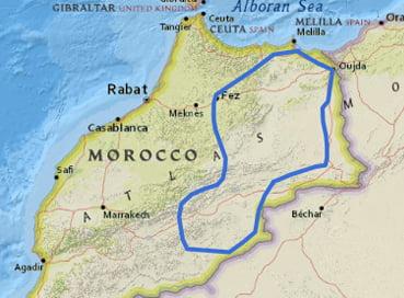 Mapa Marruecos Semana Santa 2020